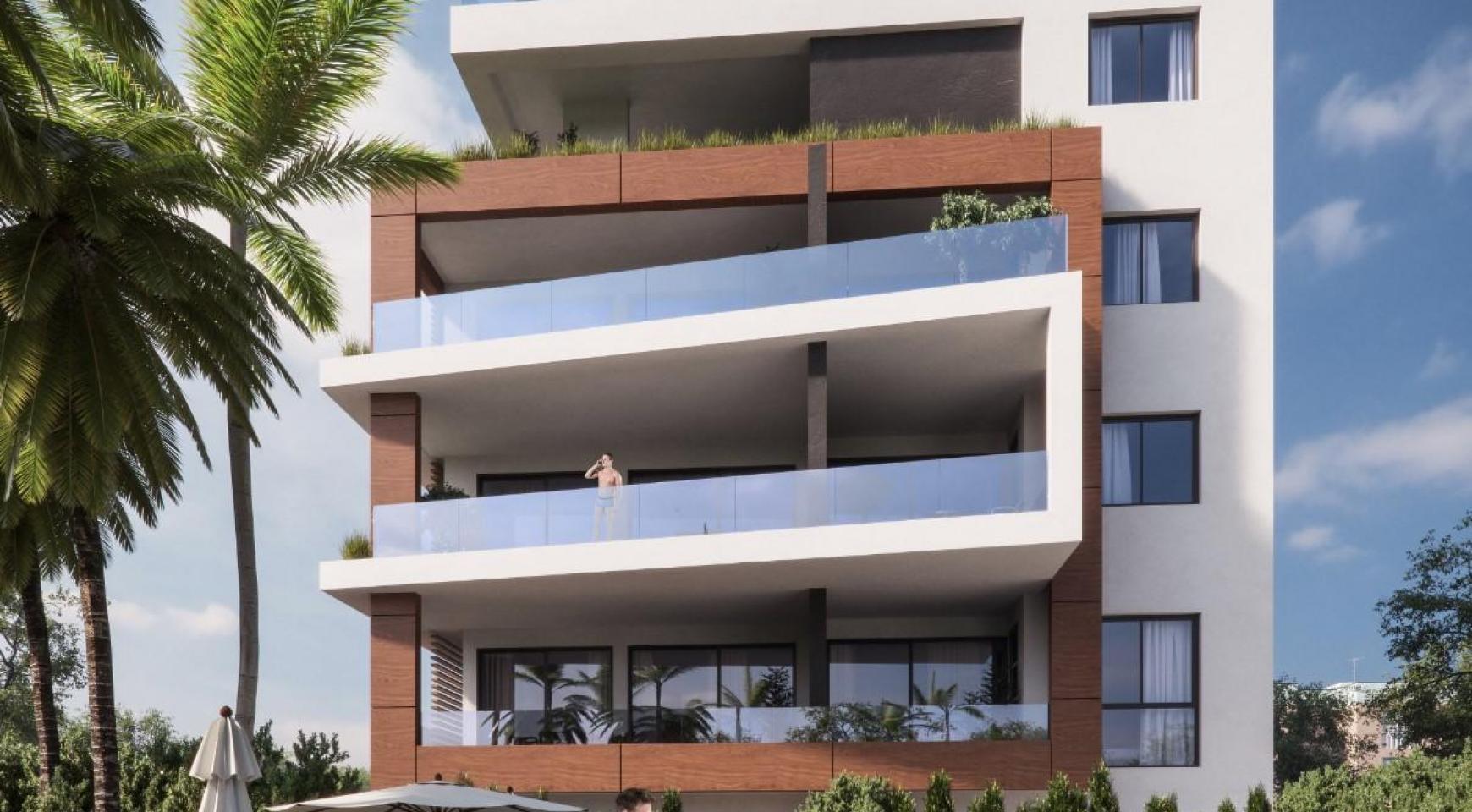 Malibu Residence. Современная  2-Спальная Квартира 104 в Районе Потамос Гермасойя - 7