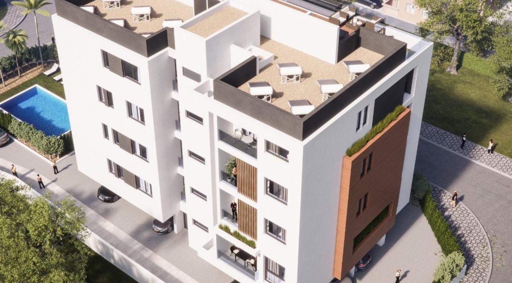 Malibu Residence. Современная  2-Спальная Квартира 104 в Районе Потамос Гермасойя - 4