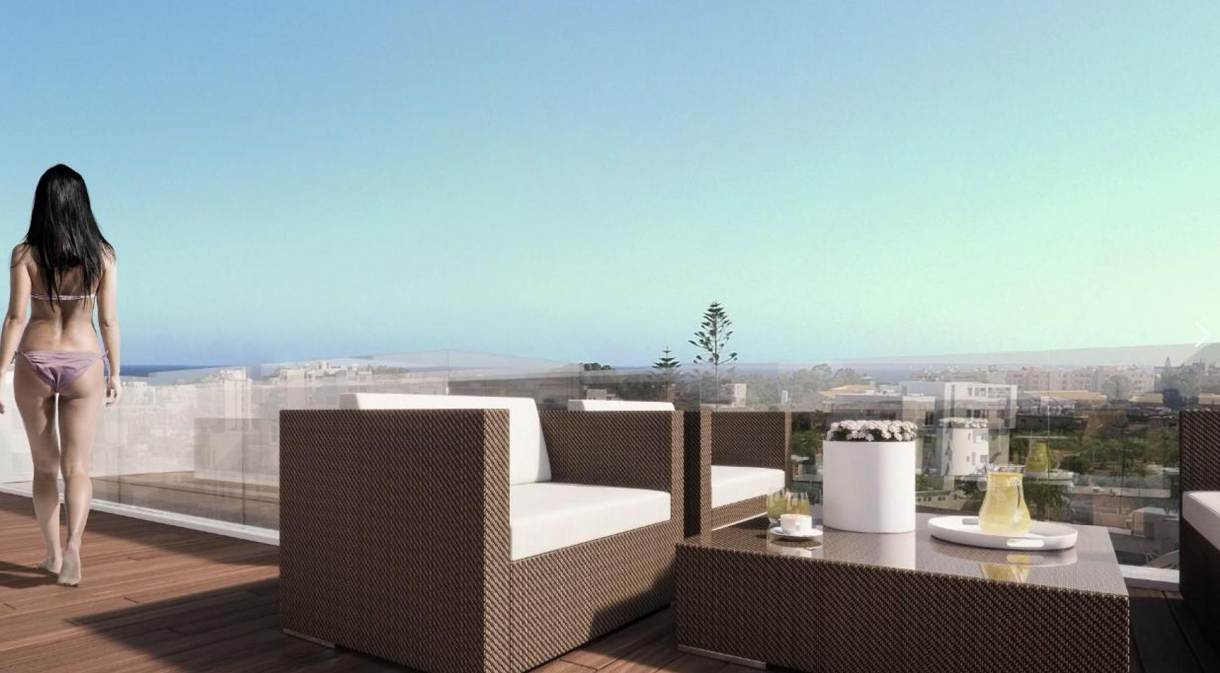 Malibu Residence. Современная  2-Спальная Квартира 104 в Районе Потамос Гермасойя - 6