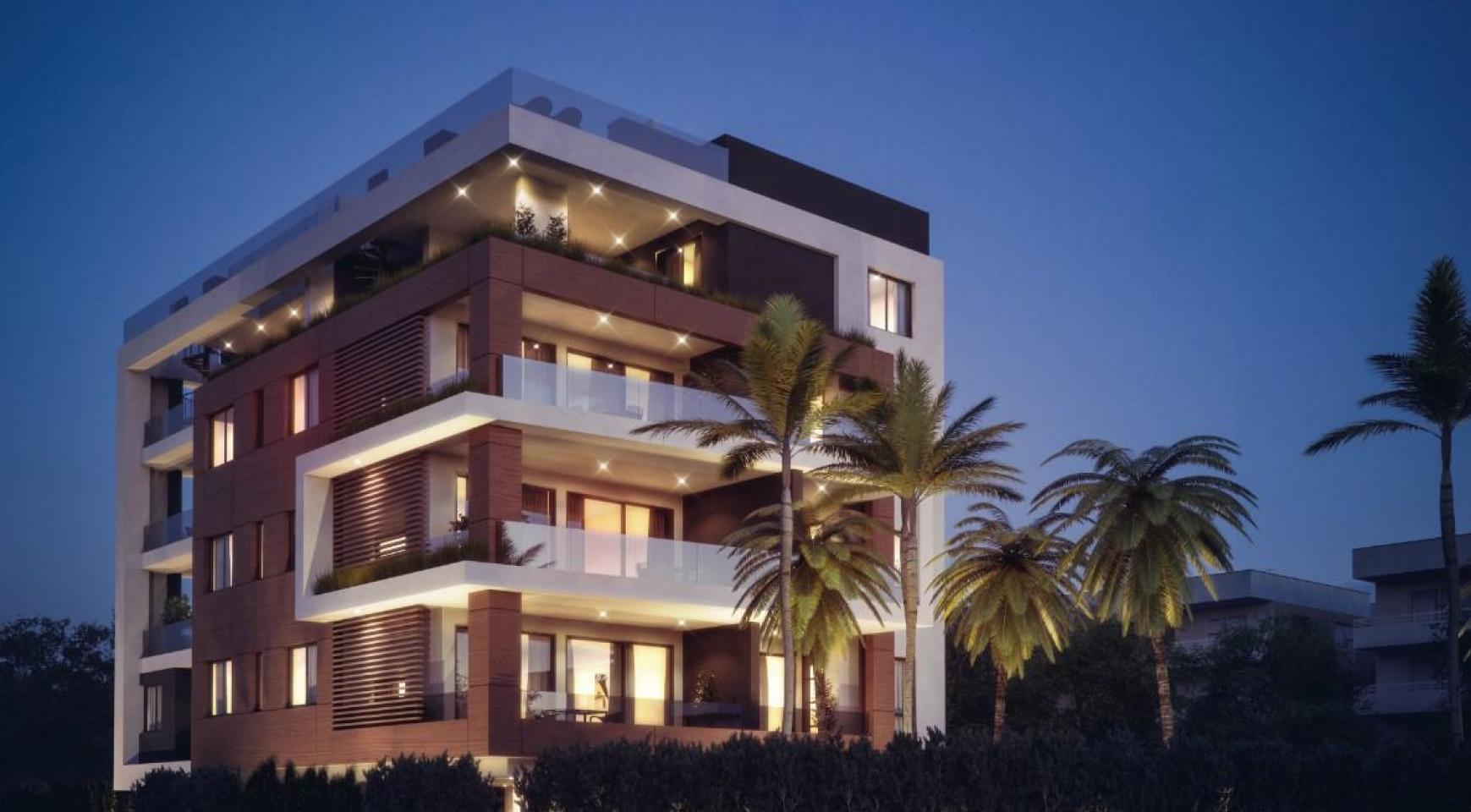 Malibu Residence. Современная  2-Спальная Квартира 104 в Районе Потамос Гермасойя - 1