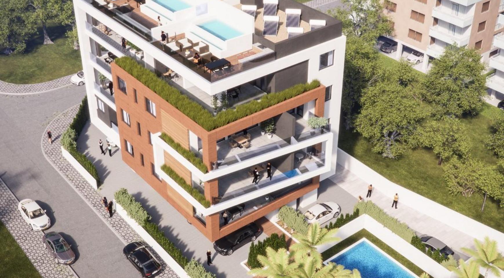 Malibu Residence. Современная  2-Спальная Квартира 201 в Районе Потамос Гермасойя - 3