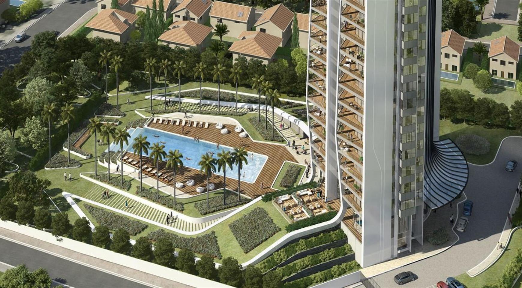 Sky Tower. Новая Просторная 3-Спальная Квартира в Эксклюзивном Проекте - 7