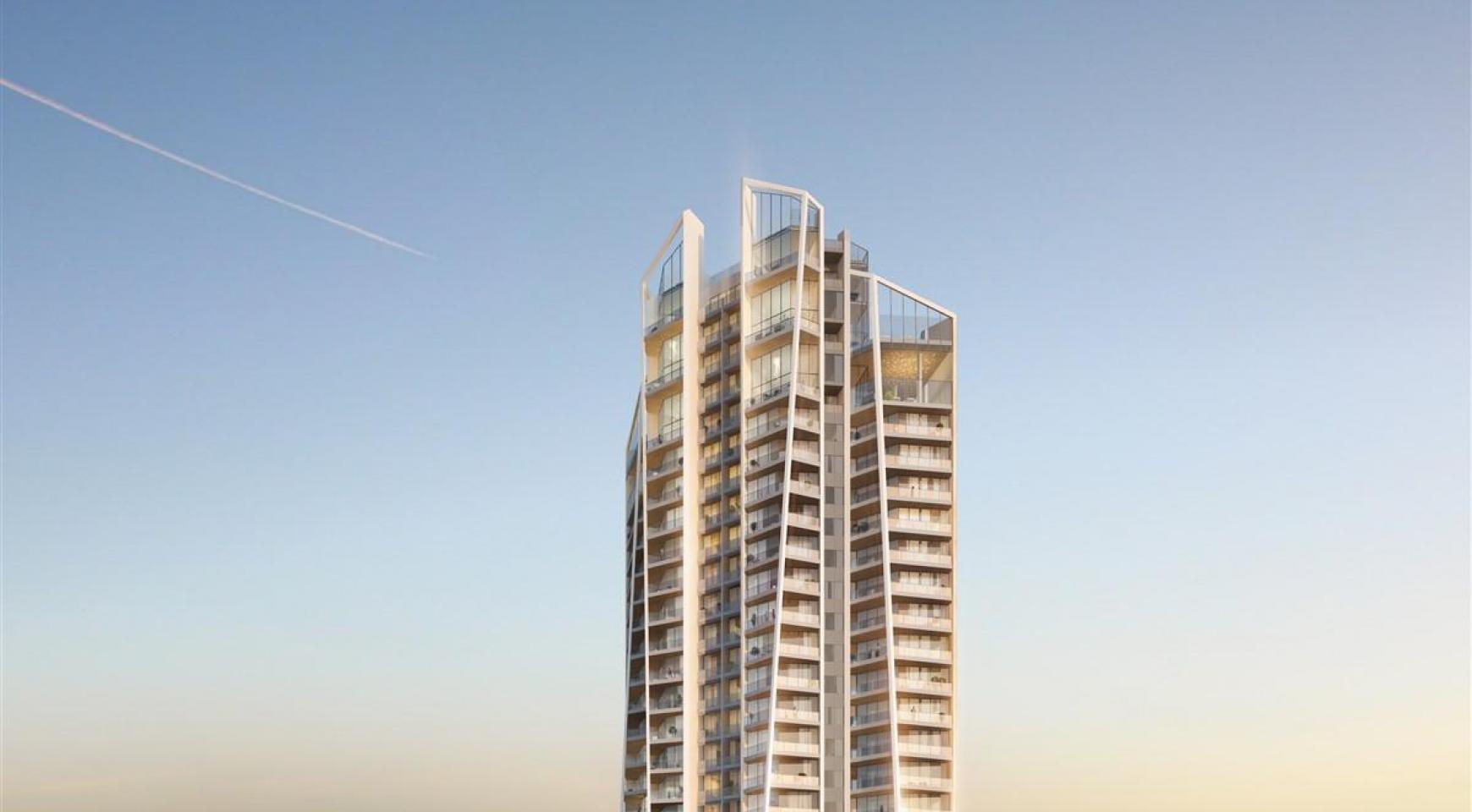 Sky Tower. Элитная 3-Спальная Квартира в Новом Комплексе возле Моря - 3