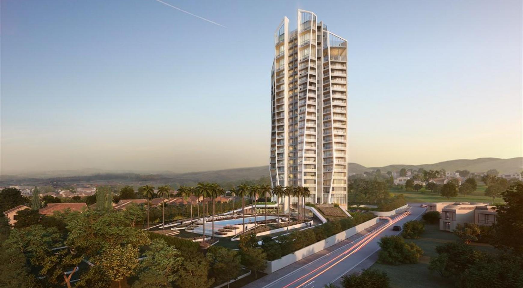 Sky Tower. Элитная 3-Спальная Квартира в Новом Комплексе возле Моря - 4