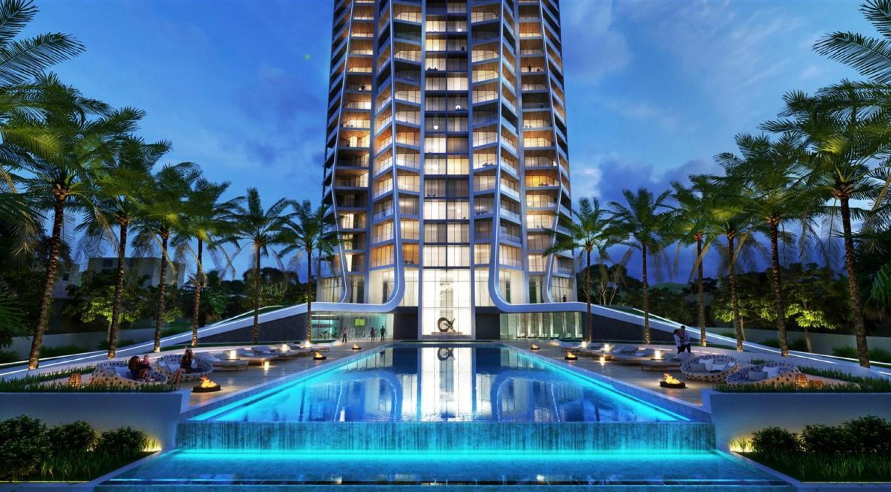 Sky Tower. Элитная 3-Спальная Квартира в Новом Комплексе возле Моря - 1