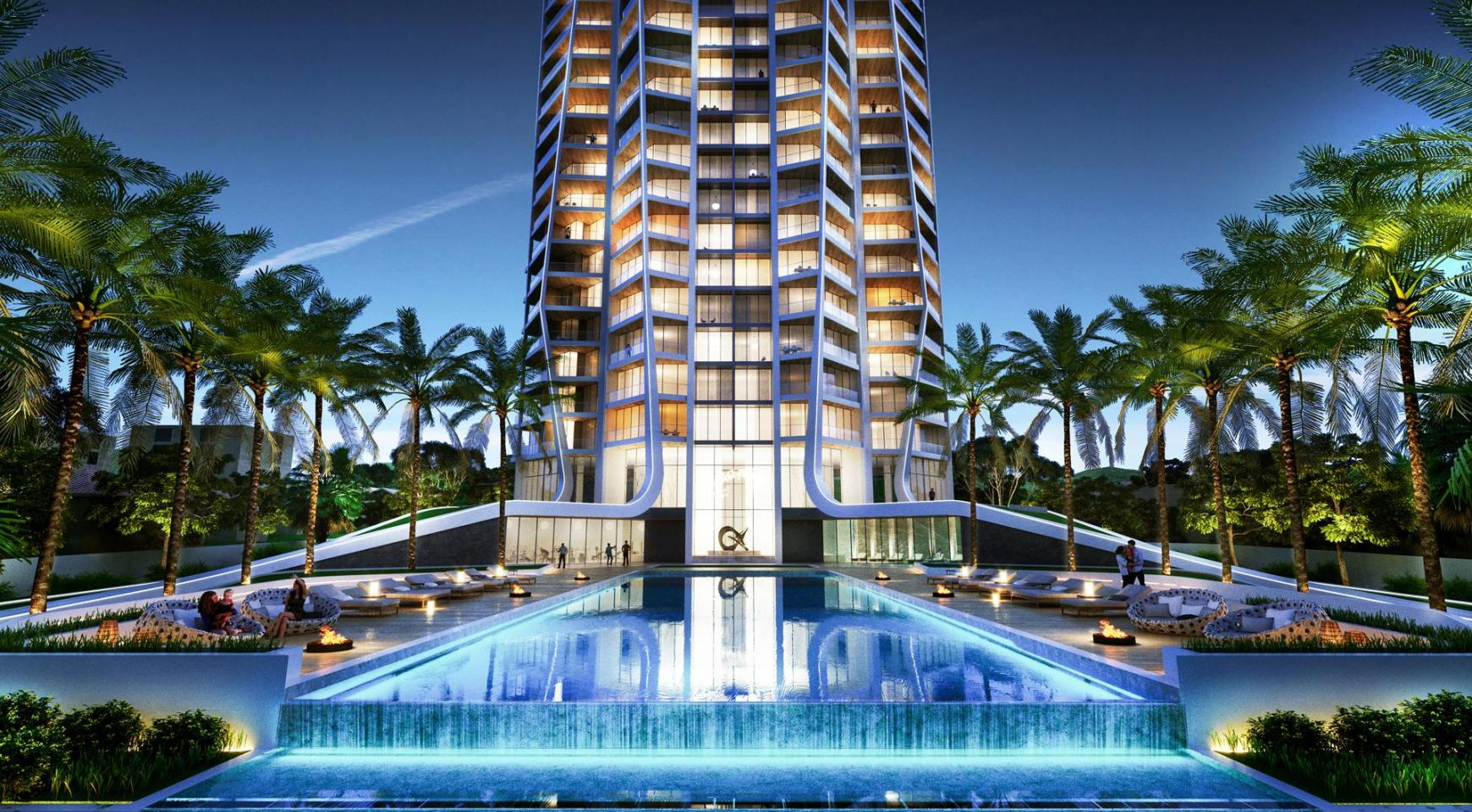 Sky Tower. Элитная 3-Спальная Квартира 505 с Видом на Море - 2