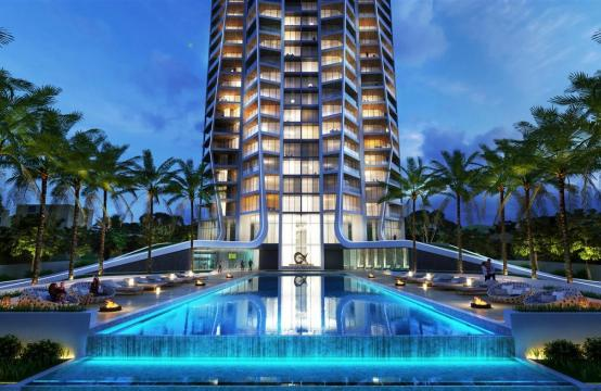 Sky Tower. Новая Просторная 2-Спальная Квартира с Видом на Море