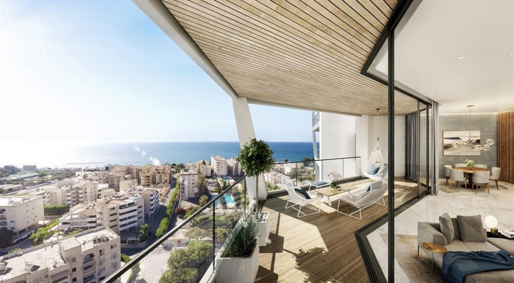 Sky Tower. Элитная 2-Спальная Квартира с Изумительным Видом на Море - 6
