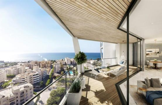 Sky Tower. Элитная 2-Спальная Квартира с Изумительным Видом на Море