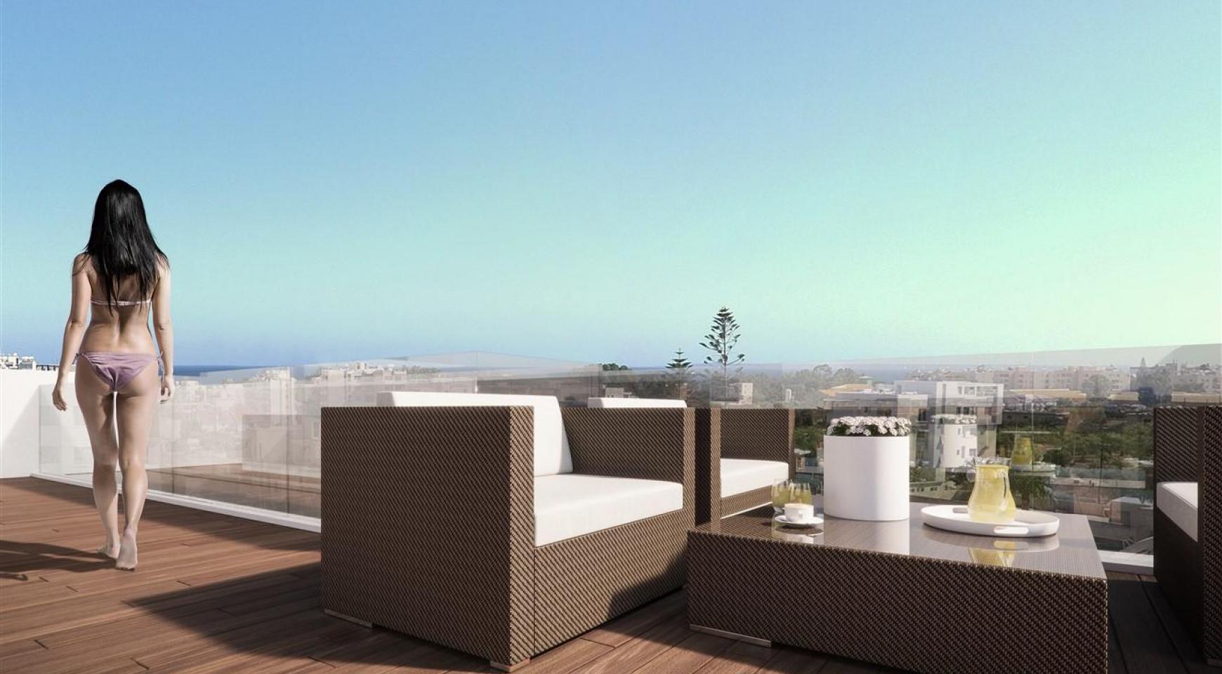 Malibu Residence. Современная  Односпальная Квартира 102 в Туристической Зоне - 11