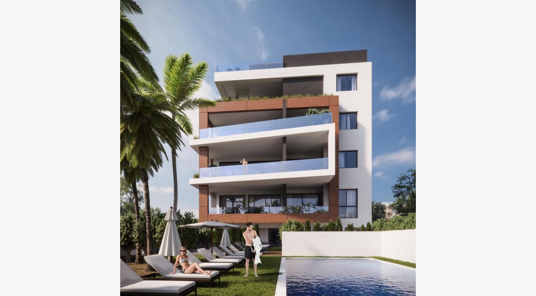 Malibu Residence. Новая Современная 3-Спальная Квартира 302 в Районе Потамос Гермасойя - 3