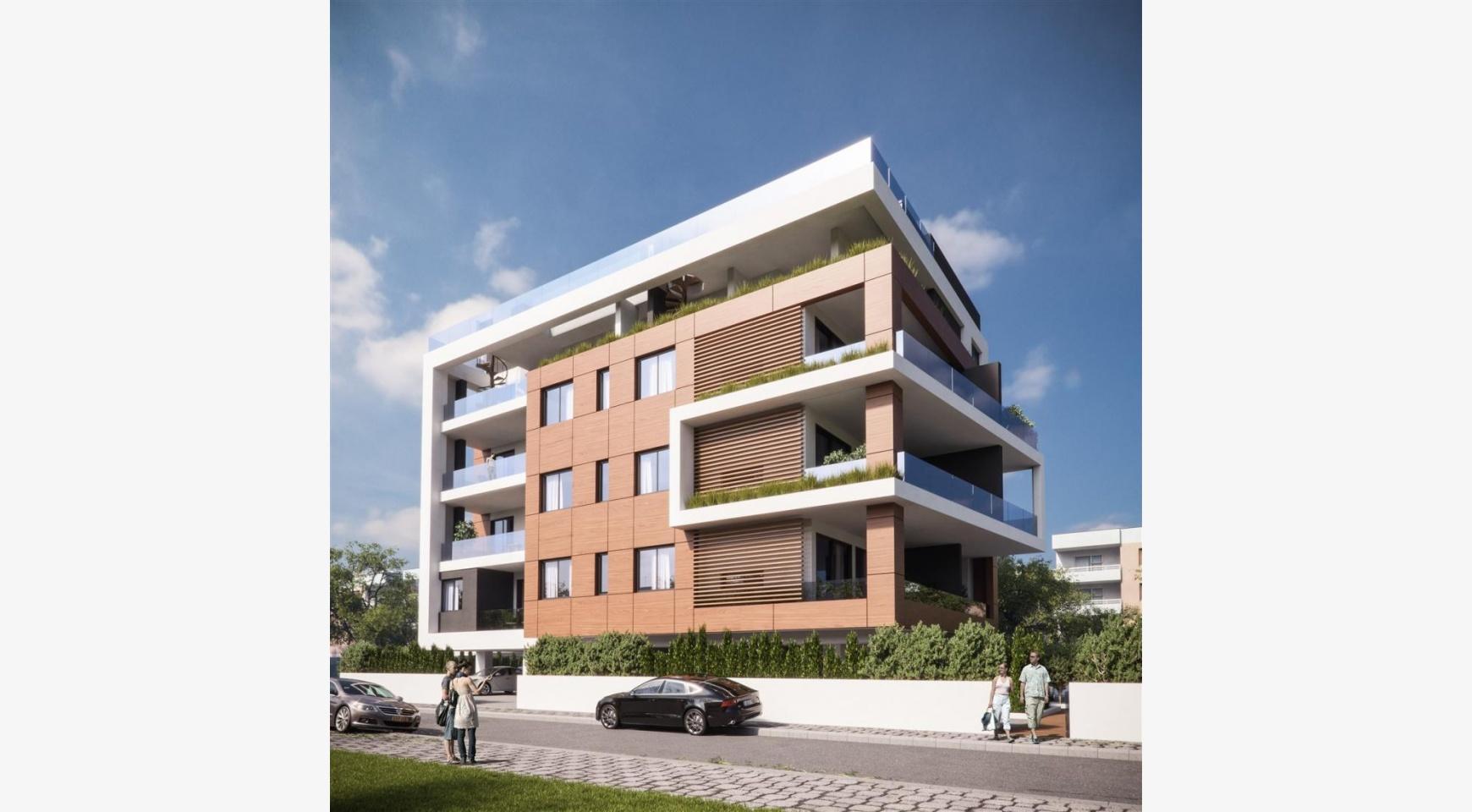 Malibu Residence. Новая Современная 3-Спальная Квартира 302 в Районе Потамос Гермасойя - 7