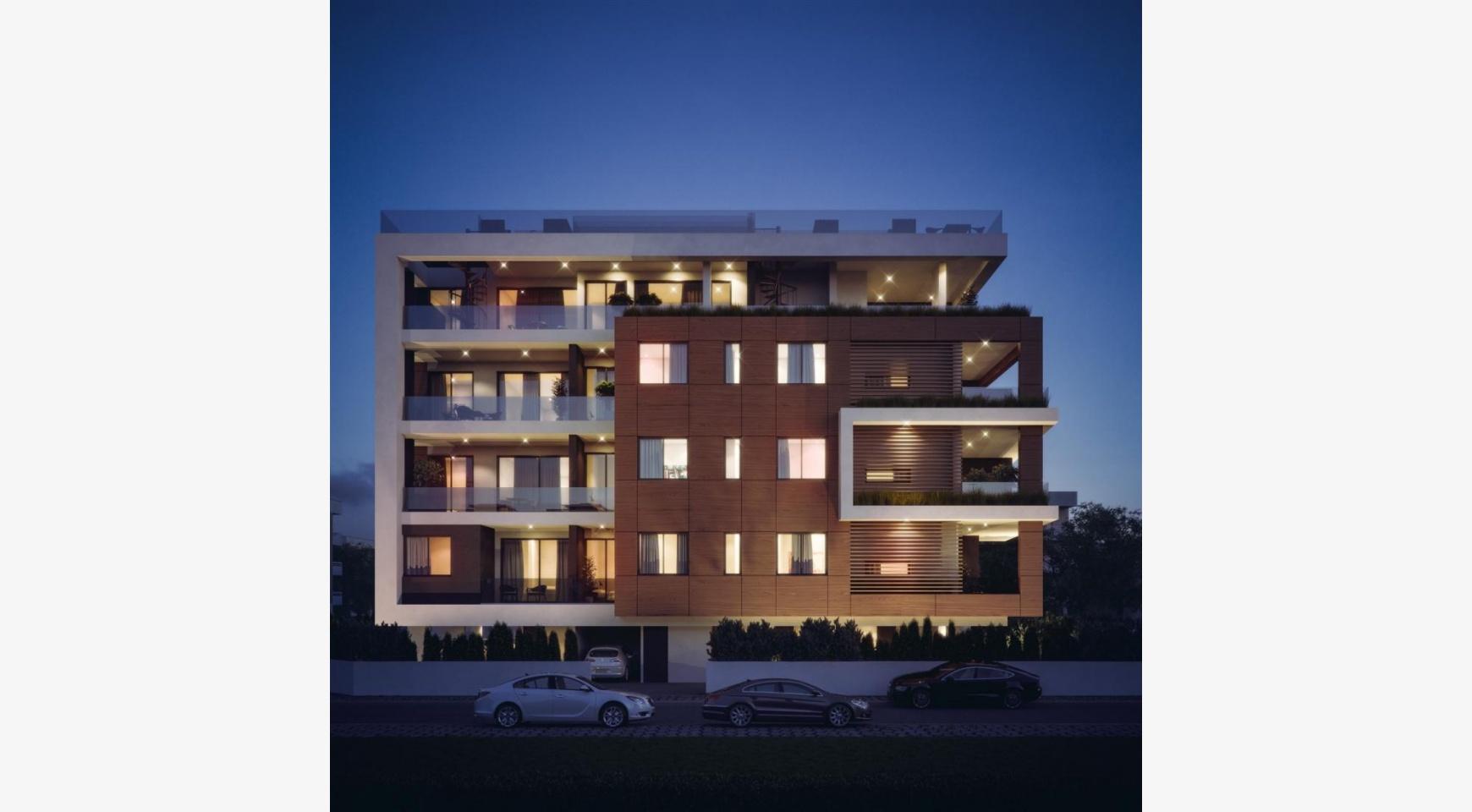 Malibu Residence. Новая Современная 3-Спальная Квартира 302 в Районе Потамос Гермасойя - 5