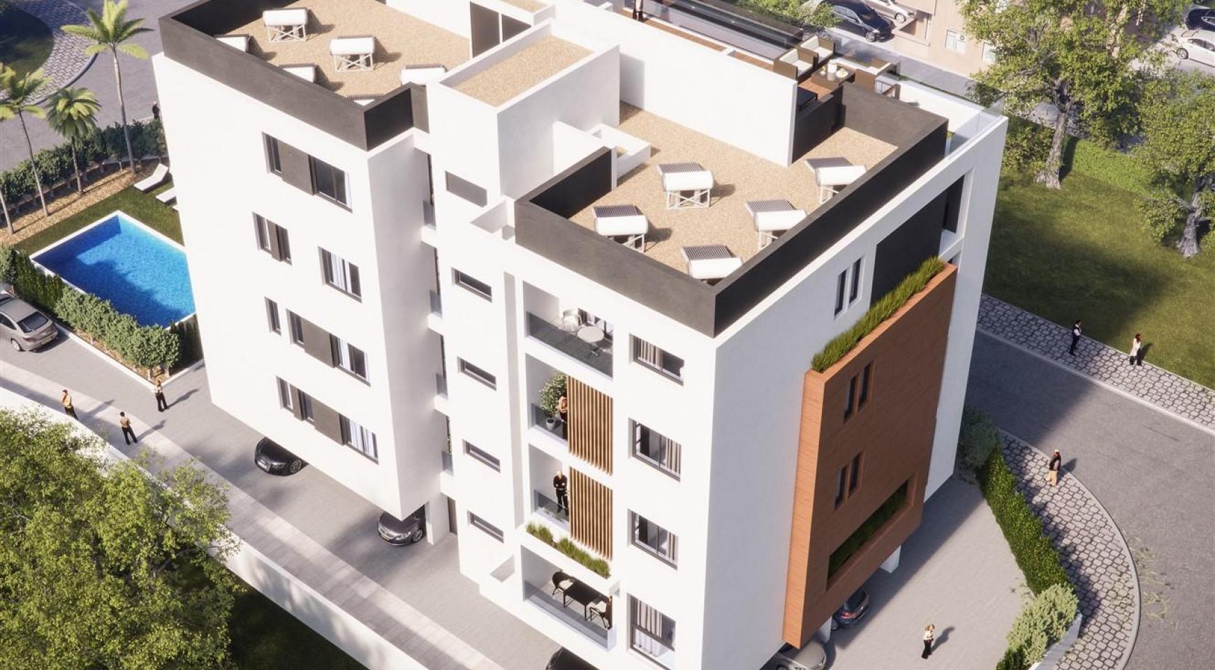 Malibu Residence. Новая Современная 3-Спальная Квартира 302 в Районе Потамос Гермасойя - 2