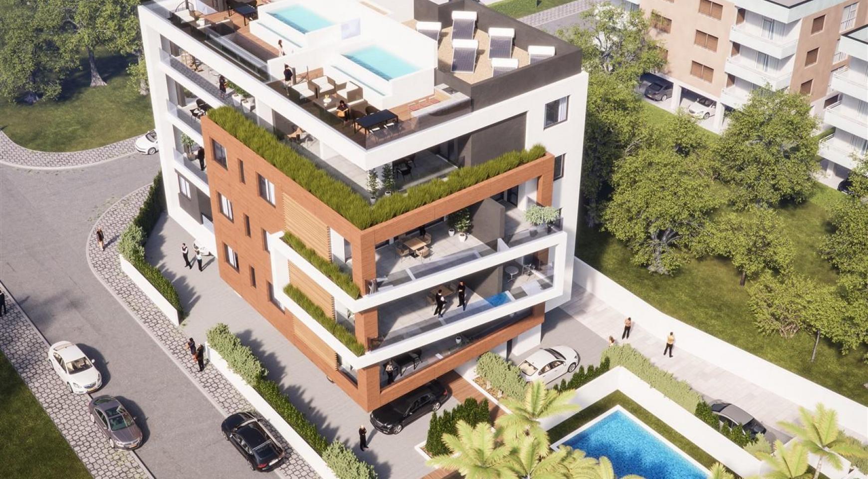 Malibu Residence. Новая Современная 3-Спальная Квартира 302 в Районе Потамос Гермасойя - 1
