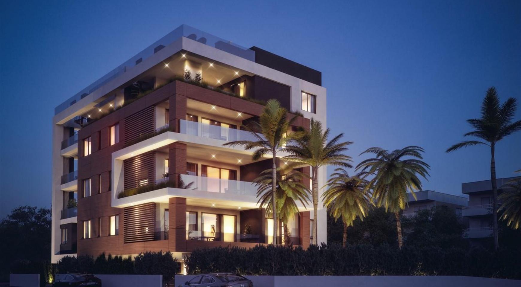 Malibu Residence. Новая Современная 3-Спальная Квартира 302 в Районе Потамос Гермасойя - 6