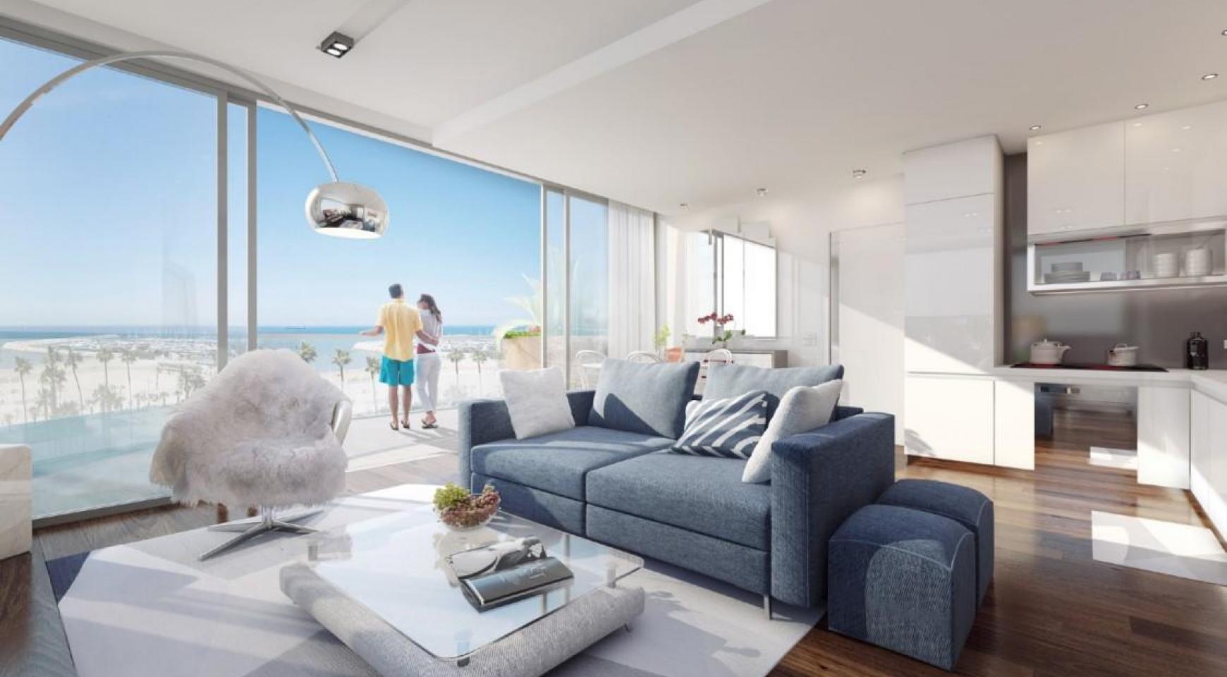 Новая 2-Спальная Квартира с Садом  - 7