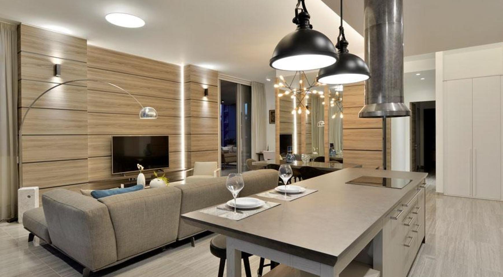 Элитная 3-Спальная Квартира в Новом Комплексе возле Моря - 11