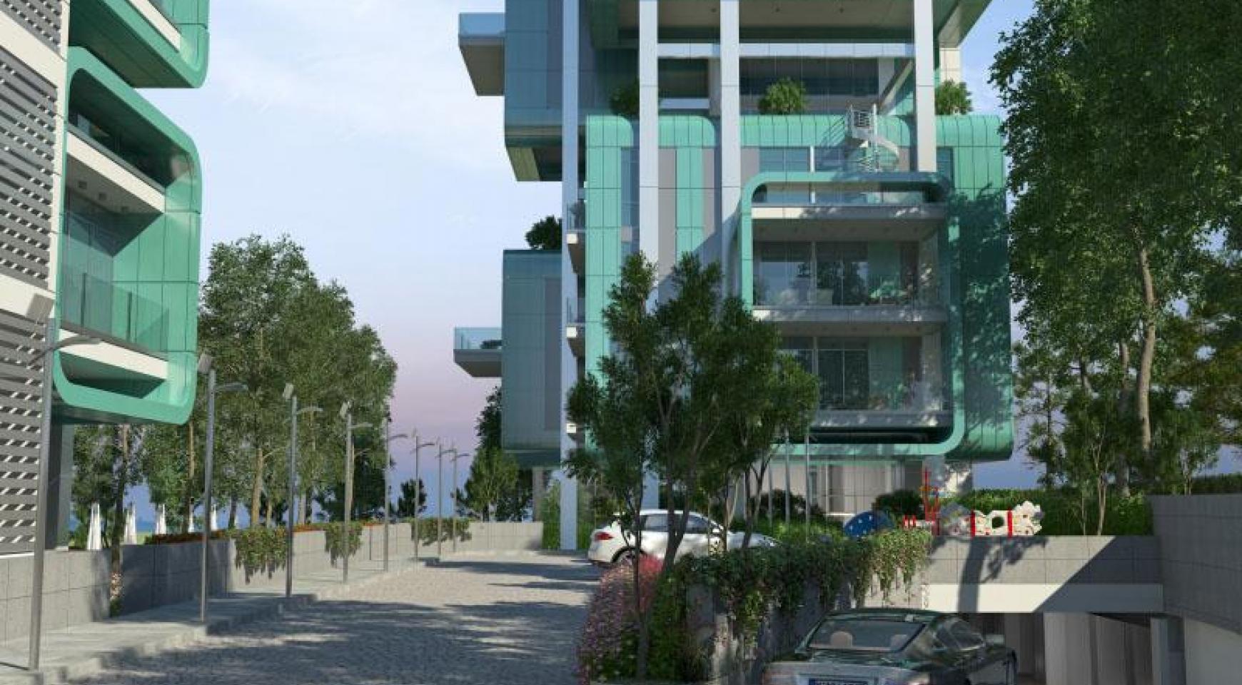 Элитная 3-Спальная Квартира в Новом Комплексе возле Моря - 33