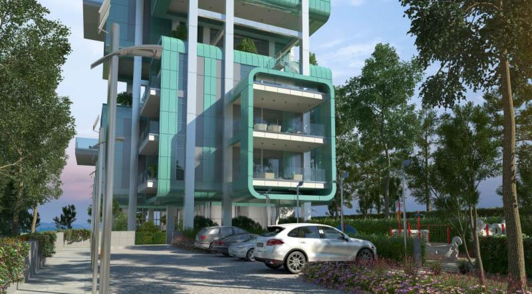 Элитная 3-Спальная Квартира в Новом Комплексе у Моря - 30