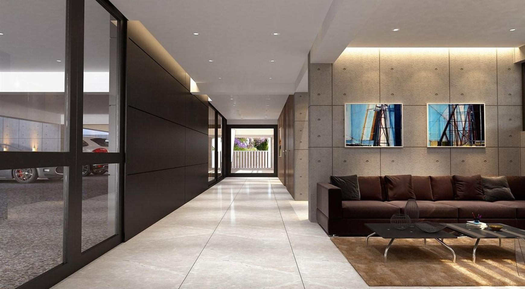 Современная 2-Спальная Квартира в Новом Комплексе возле Моря - 15