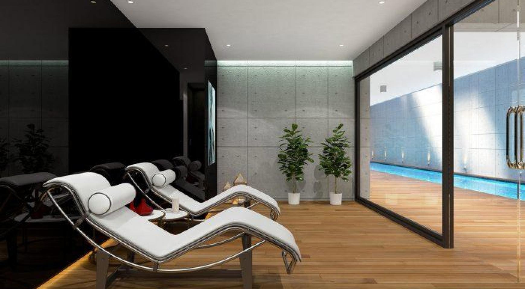 Современная 2-Спальная Квартира в Новом Комплексе возле Моря - 20
