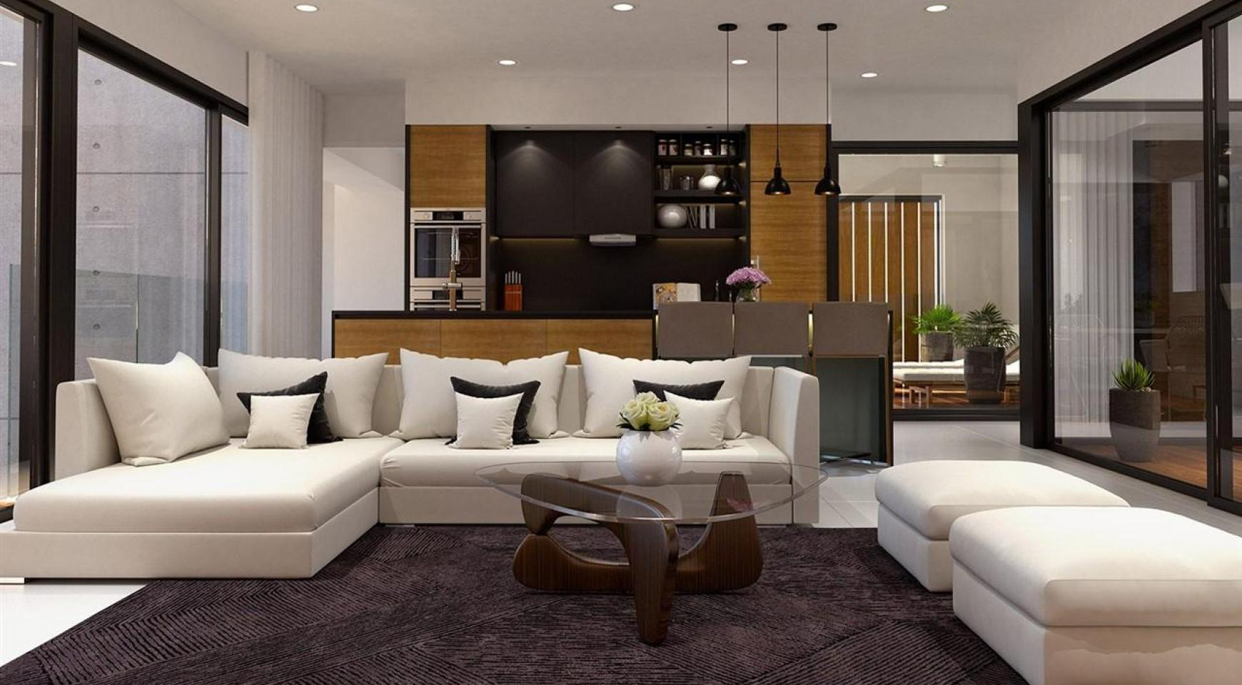 Современная 2-Спальная Квартира в Новом Комплексе возле Моря - 9