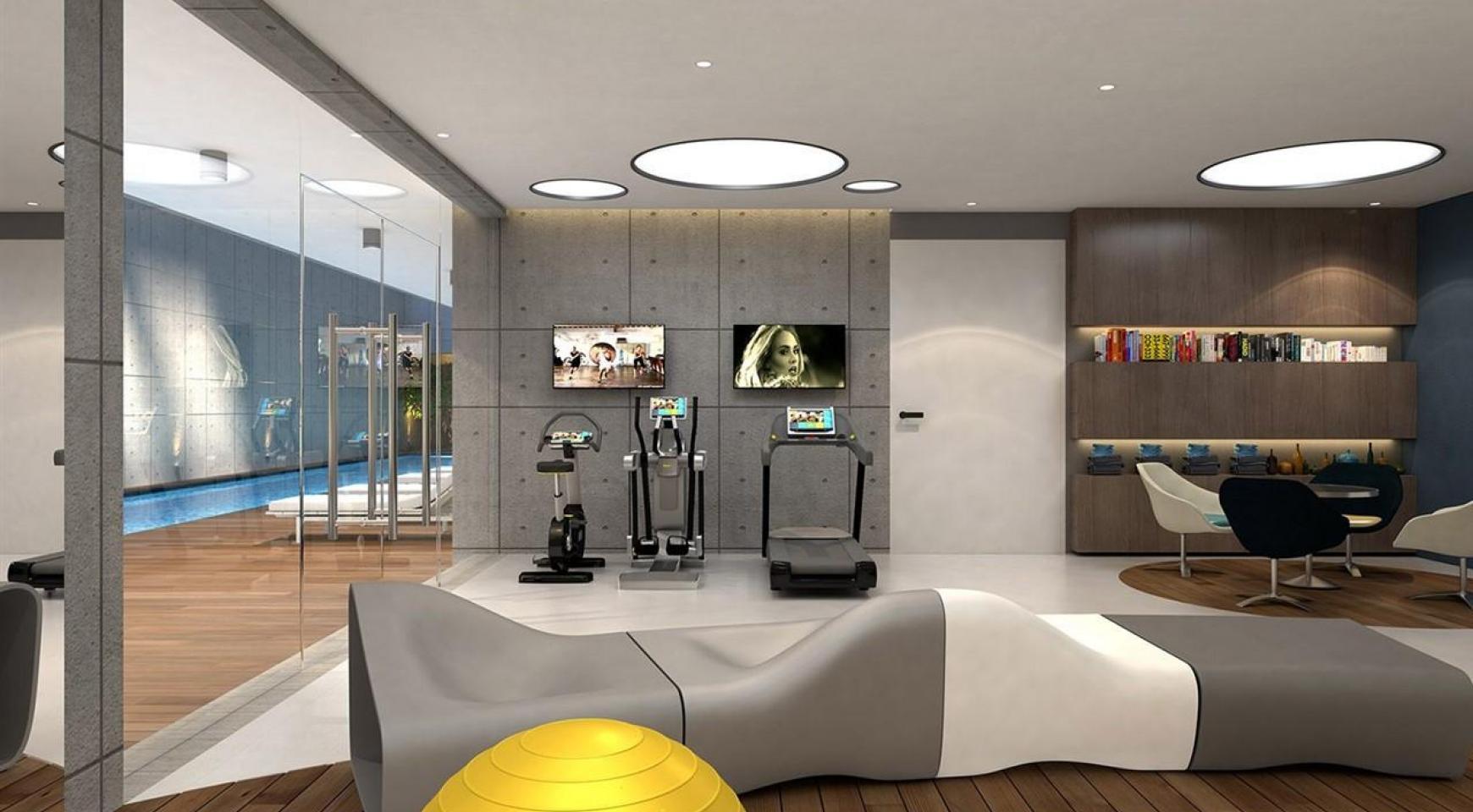 Современная 2-Спальная Квартира в Новом Комплексе возле Моря - 14