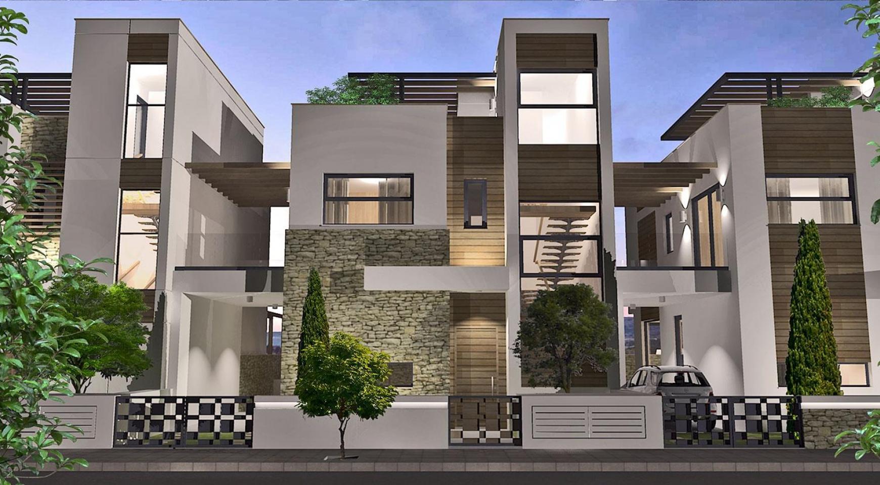 Просторная 4-Спальная Вилла в Новом Комплексе в Районе Agios Athanasios - 2