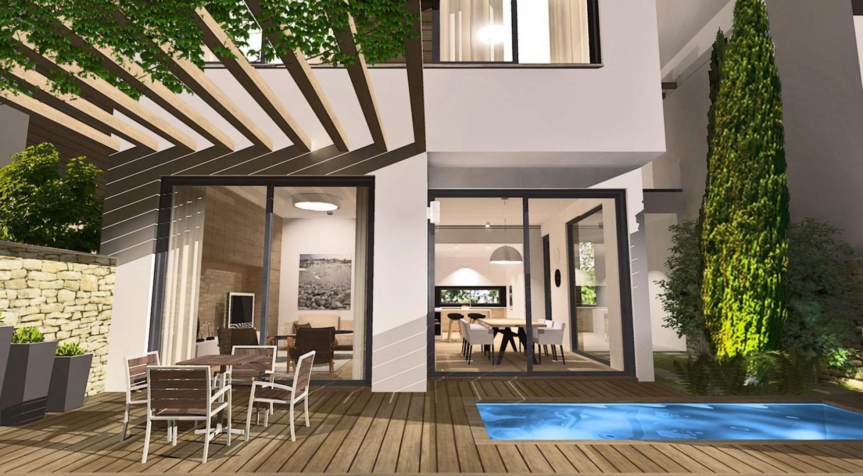 Просторная 4-Спальная Вилла в Новом Комплексе в Районе Agios Athanasios - 1