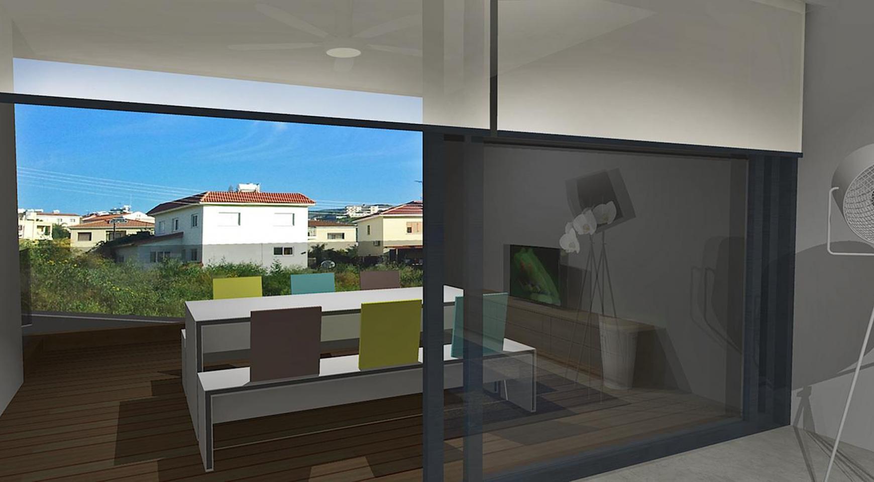 Современная 2-Спальная Квартира в Новом Комплексе в Районе Agios Athanasios - 3