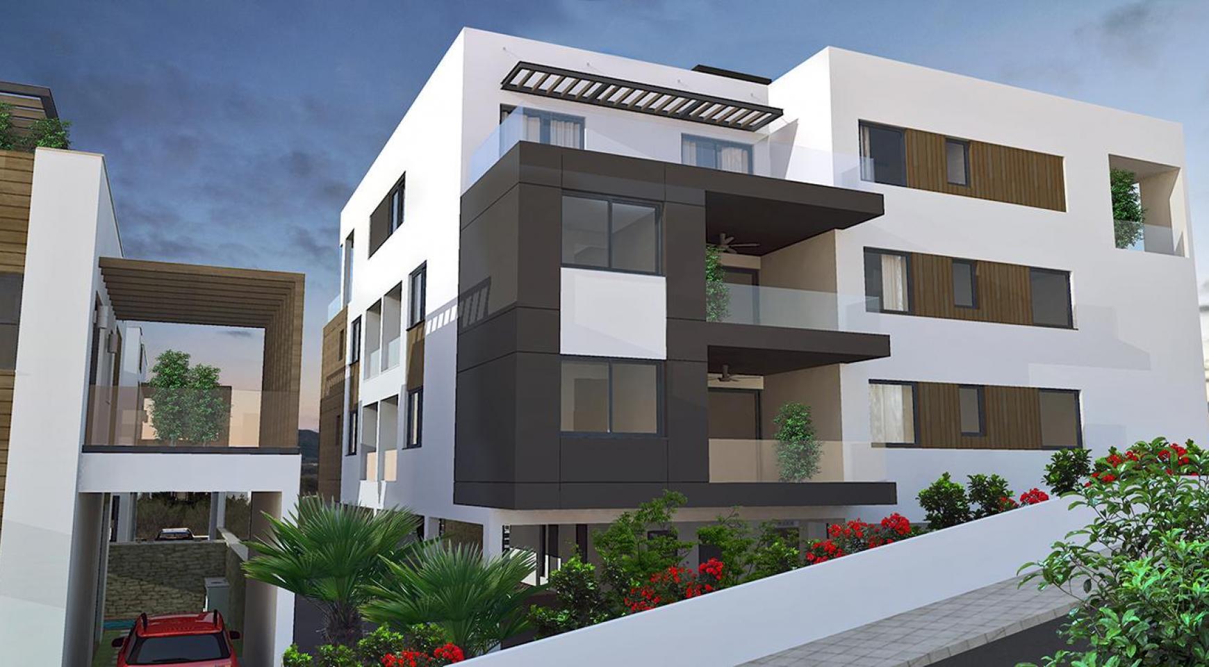 Современная 2-Спальная Квартира в Новом Комплексе в Районе Agios Athanasios - 11