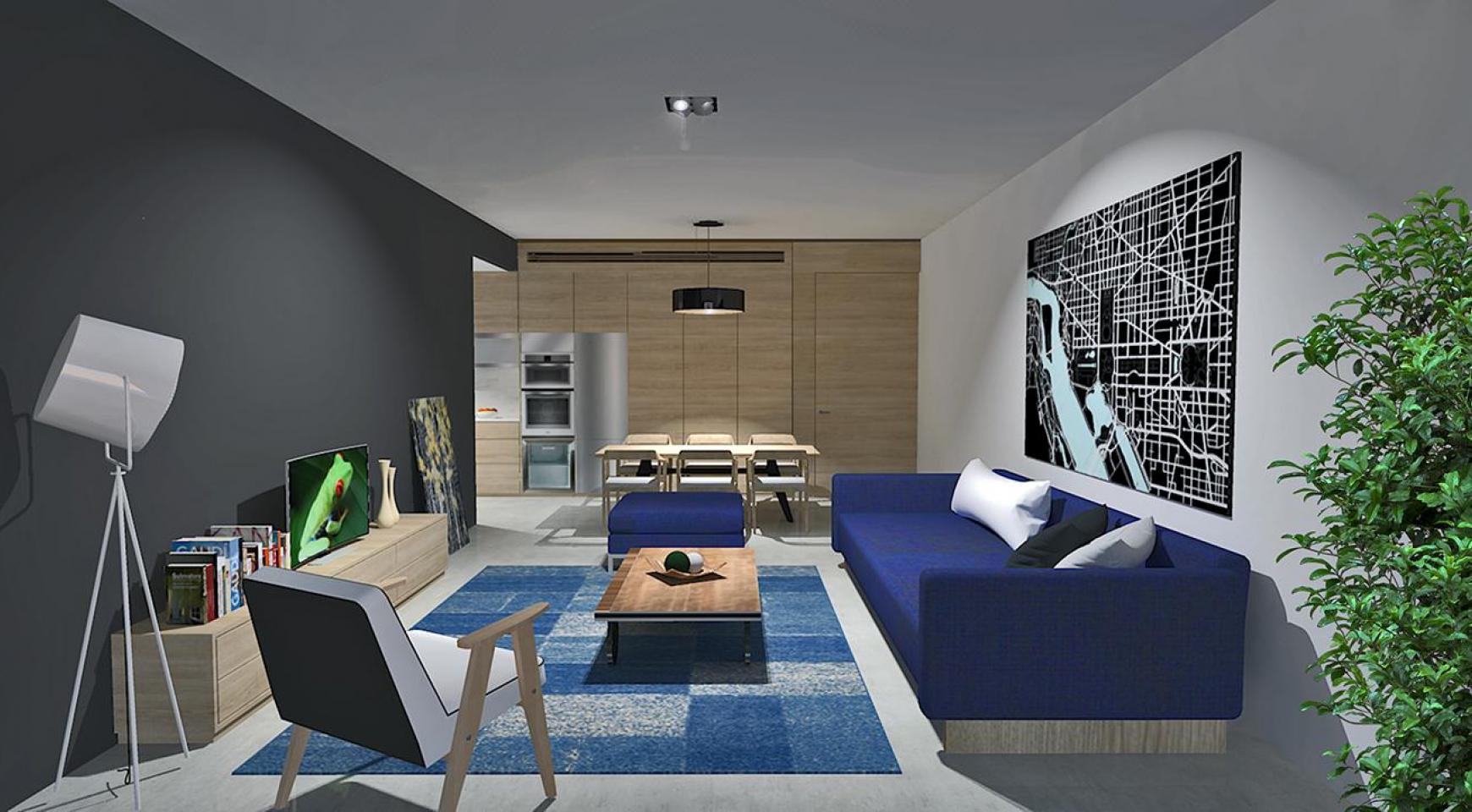 Современная 2-Спальная Квартира в Новом Комплексе в Районе Agios Athanasios - 1