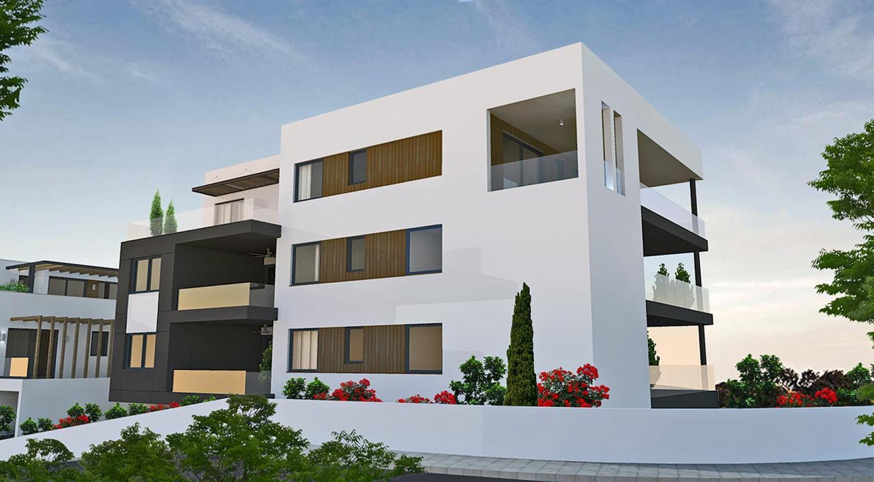 Современная 2-Спальная Квартира в Новом Комплексе в Районе Agios Athanasios - 12