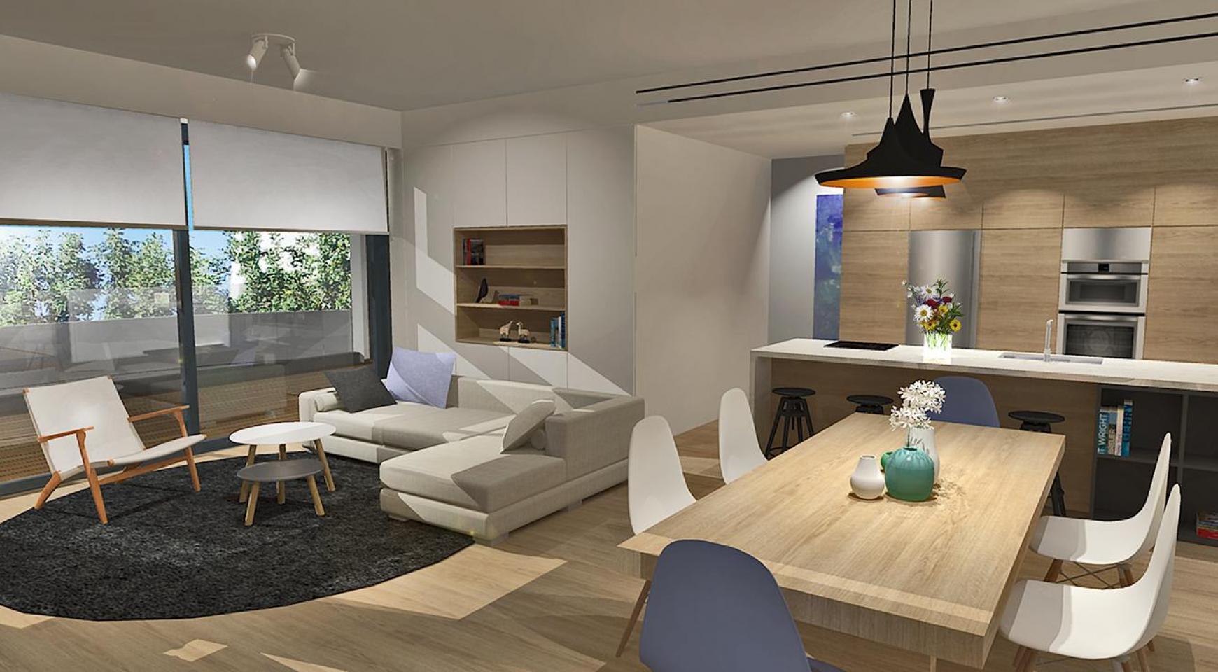Современная 3-Спальная Квартира в Новом Комплексе в Районе Agios Athanasios - 3