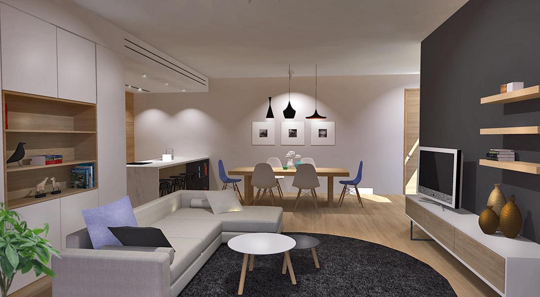 Современная 3-Спальная Квартира в Новом Комплексе в Районе Agios Athanasios - 1