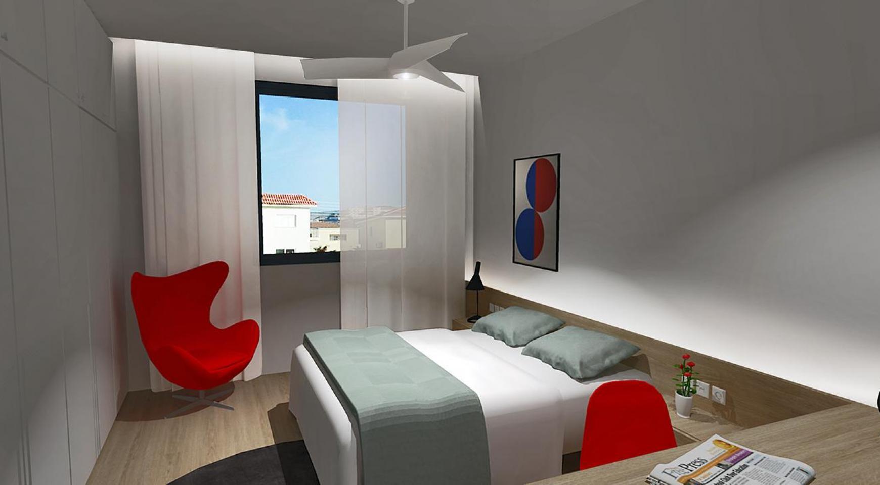 Современная 3-Спальная Квартира в Новом Комплексе в Районе Agios Athanasios - 9