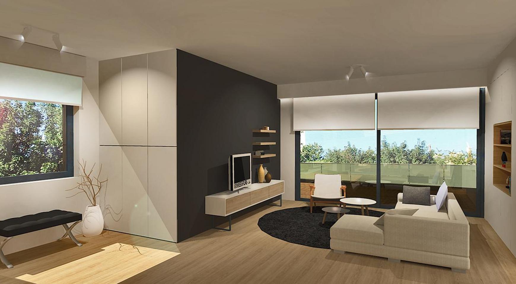 Современная 3-Спальная Квартира в Новом Комплексе в Районе Agios Athanasios - 2