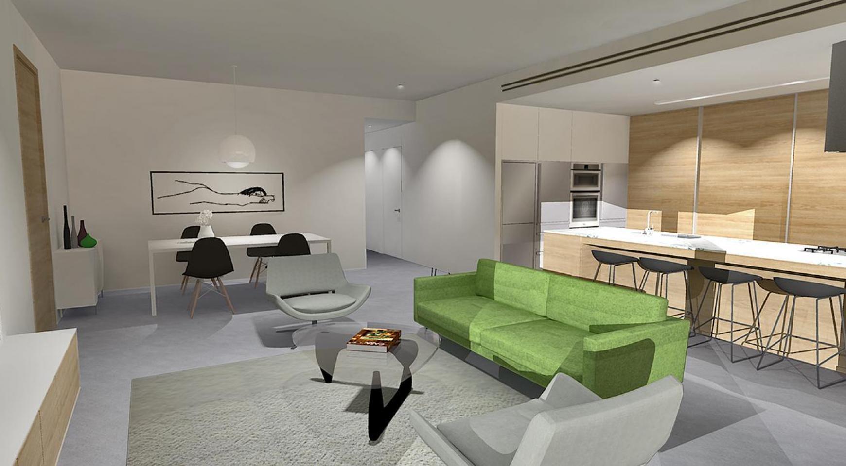 Современная 2-Спальная Квартира в Новом Комплексе в Районе Agios Athanasios - 2