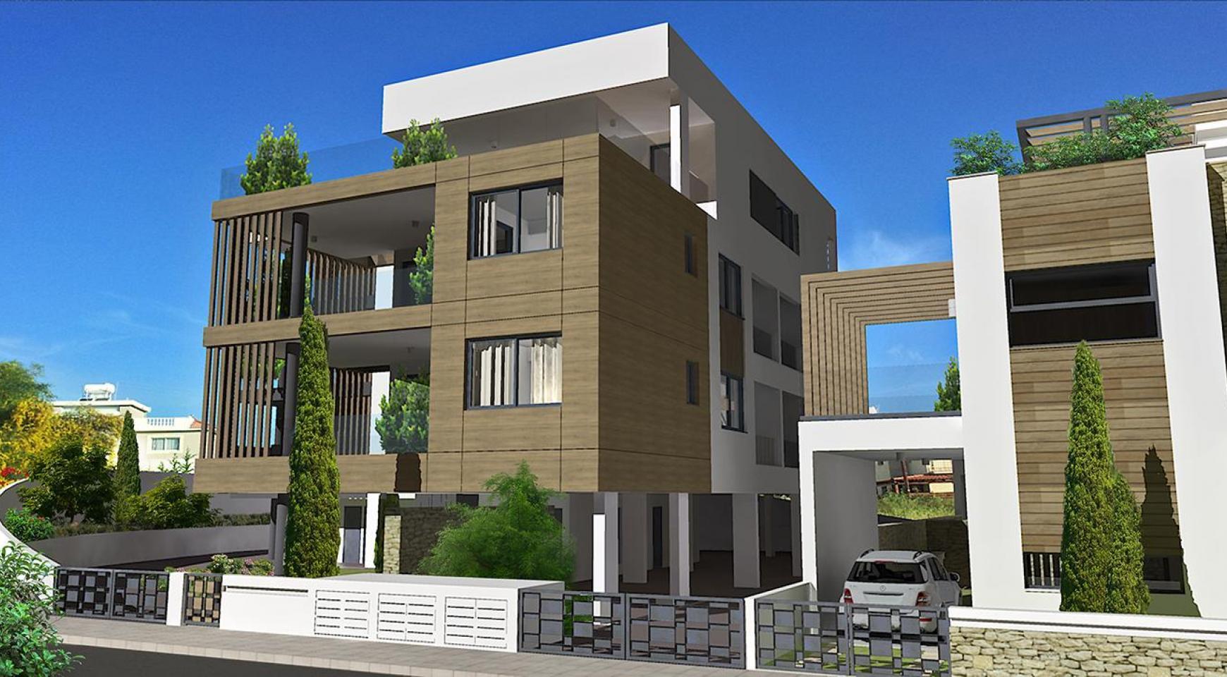 Современная 2-Спальная Квартира в Новом Комплексе в Районе Agios Athanasios - 16