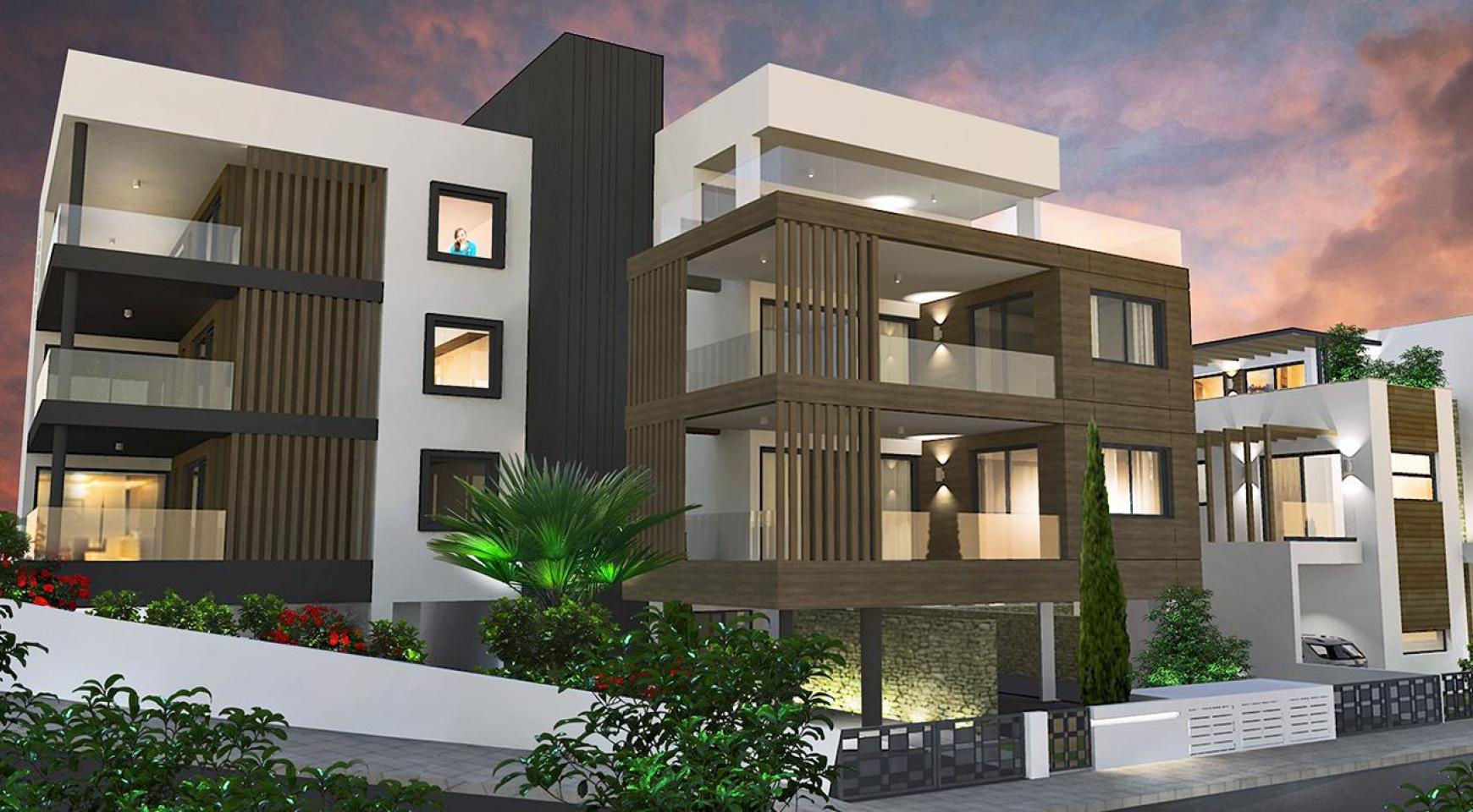 Современная 2-Спальная Квартира в Новом Комплексе в Районе Agios Athanasios - 17