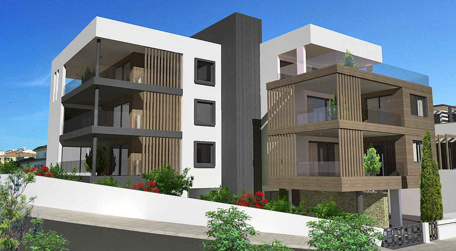 Современная 2-Спальная Квартира в Новом Комплексе в Районе Agios Athanasios - 18