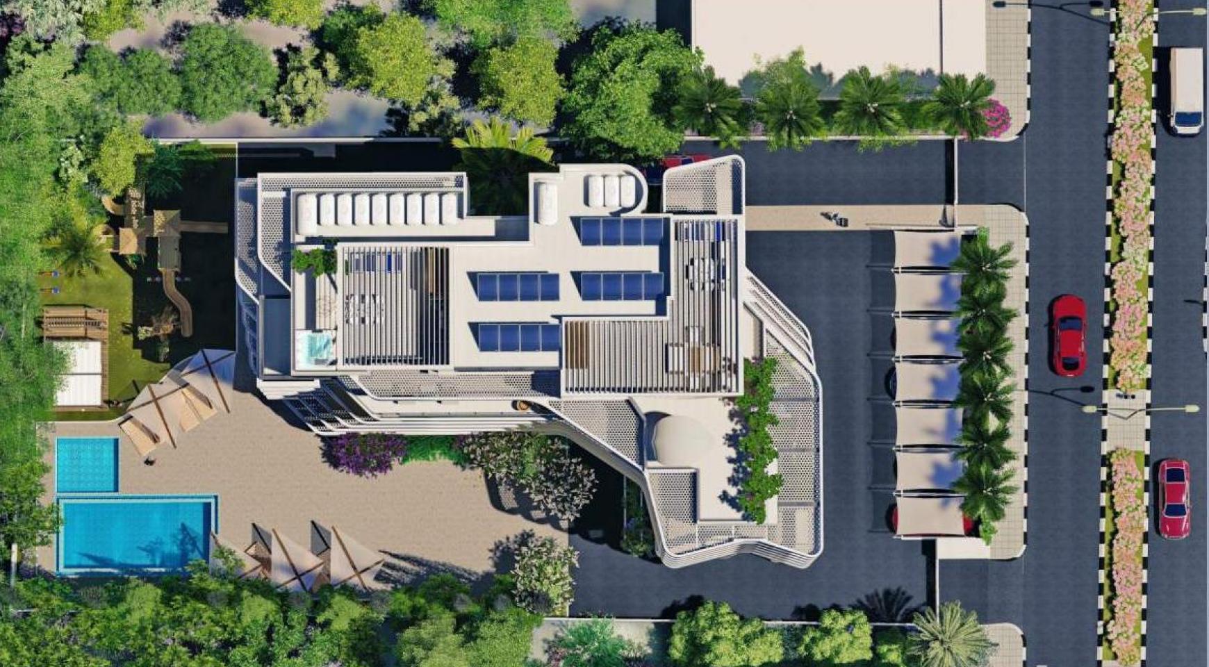 Новая 2-Спальная Квартира в Современном Комплексе возле Моря - 15