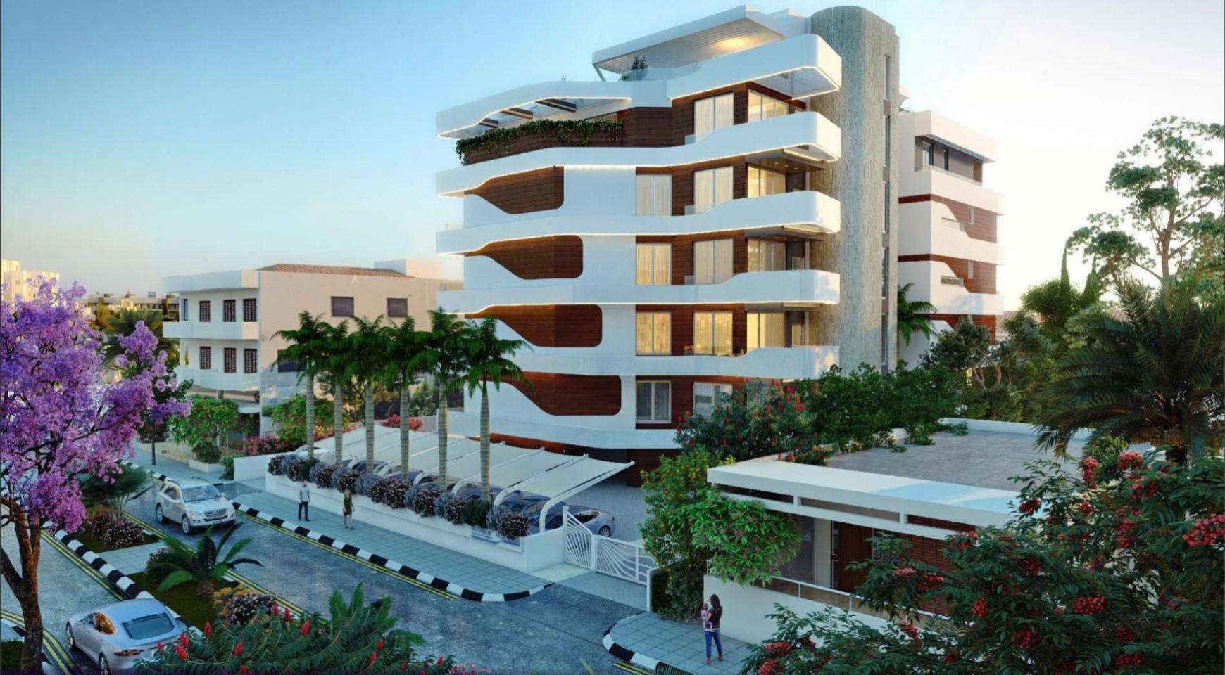 Новая 2-Спальная Квартира в Современном Комплексе возле Моря - 1