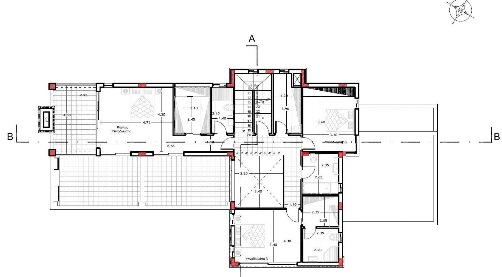 Элитная Просторная 4-Спальная Вилла в Районе Agios Athanasios - 6
