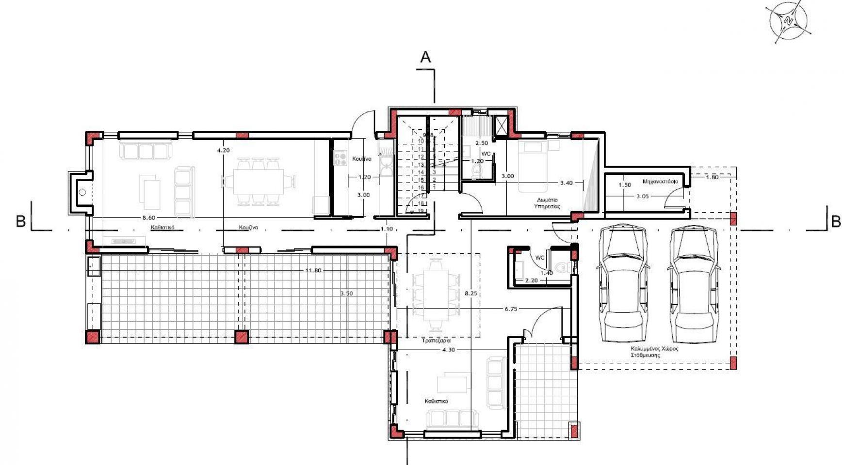 Элитная Просторная 4-Спальная Вилла в Районе Agios Athanasios - 5