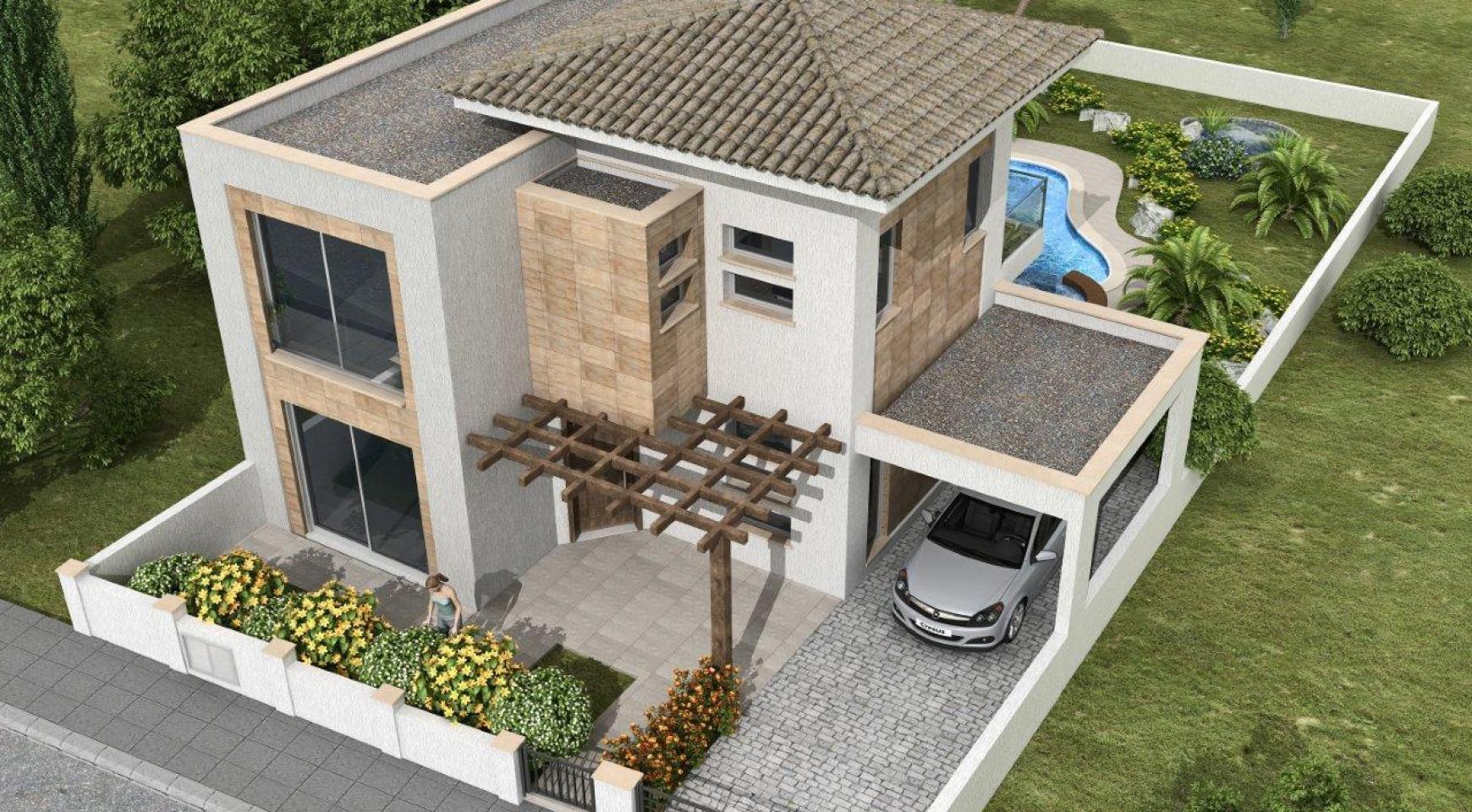 Новая 3-Спальная Вилла в Современном Проекте в Moni - 1