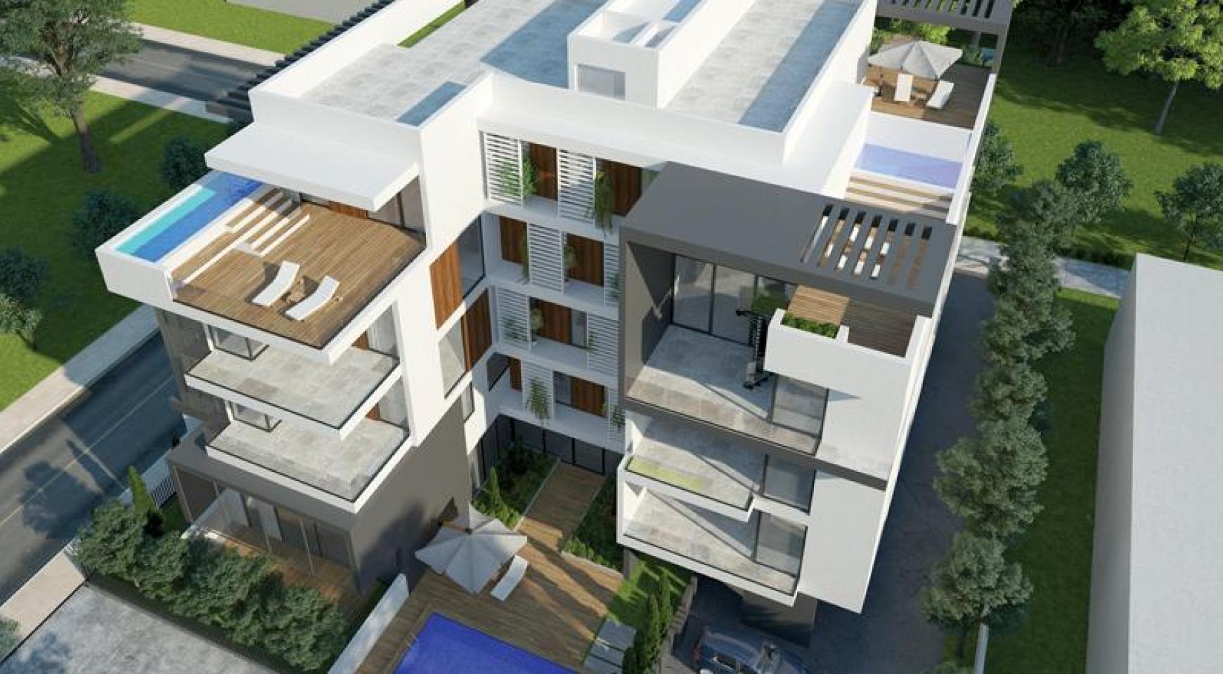 Новая 2-Спальная Квартира с Садом на Крыше в Современном Комплексе  - 1