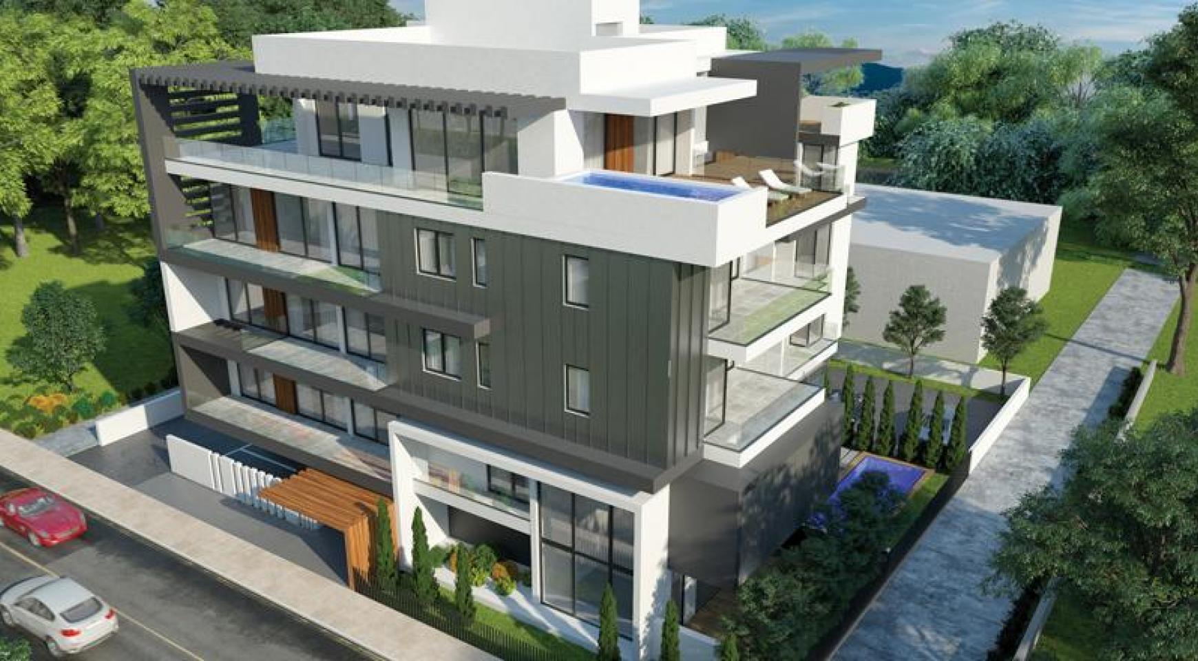 Новая 2-Спальная Квартира с Садом на Крыше в Современном Комплексе  - 2