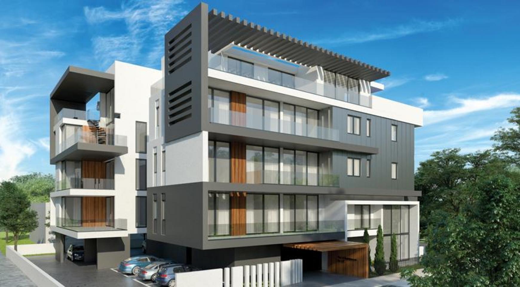 Новая 2-Спальная Квартира с Садом на Крыше в Современном Комплексе  - 3